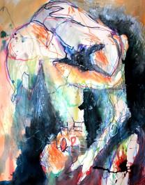 [øRø] Florian Clerc - LACHE TOI - 2016 - peinture - feutres sur papier - 64 x 50