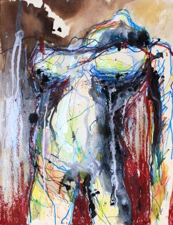 [øRø] Florian Clerc - MO - 2016 - peinture - Feutres et encres sur carton - 64 x 50
