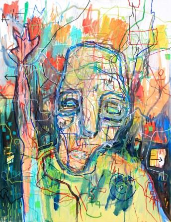[øRø] Florian Clerc - CONTE 3 - 2016 - peinture - feutre et huile sur toile - 130 x 97