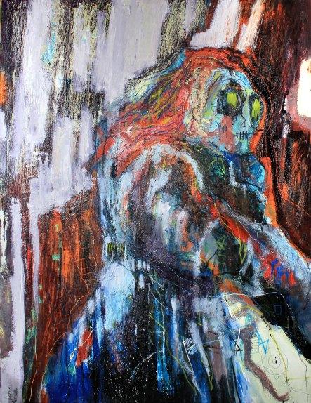 [øRø] Florian Clerc - PASSANTE - 2016 - peinture - huile et feutre sur toile - 130 x 97