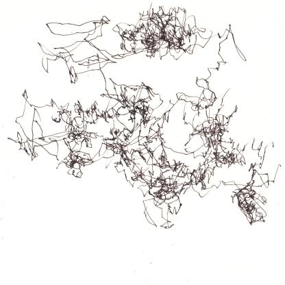 [øRø] Florian Clerc - DÉLOCALISATION IMMOBILE - AUTOMOBILE - 2016 - feutre sur papier - 15 x 15