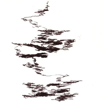 [øRø] Florian Clerc - DÉLOCALISATION IMMOBILE - TGV 2 - 2016 - feutre sur papier - 15 x 15