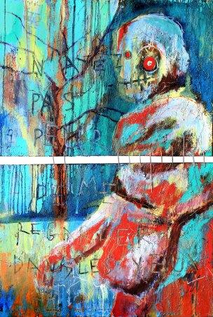 [øRø] Florian Clerc - PASSANTE 2 - 2016 - peinture - huile et feutre sur toile - 123 x 81