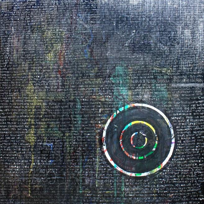 [øRø] Florian Clerc - CIBLER - 2016 - Feutre et encre sur plexiglas - 50 x 50