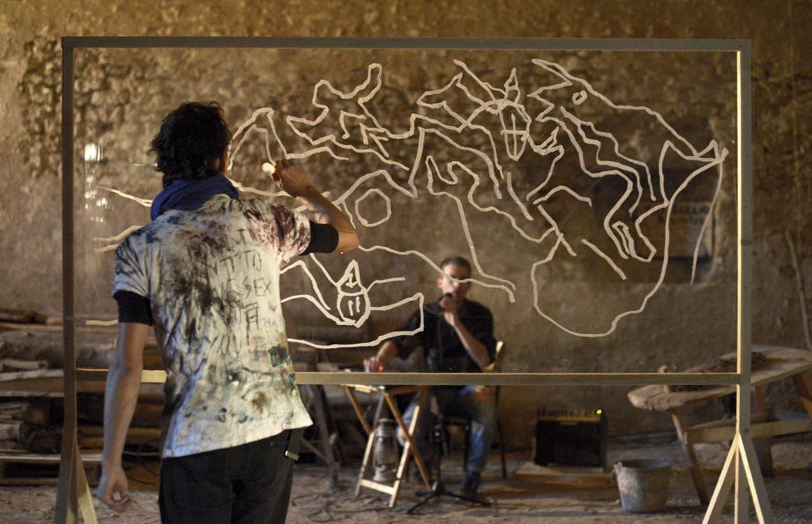 Florian Clerc - Performance - Grogne en graph - 2017 - Chateau du qui qu'en grogne - Moyen